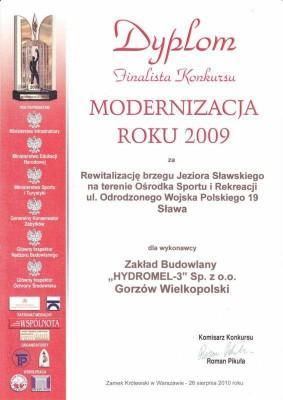 Dyplom Finalisty Modernizacji Roku 2009