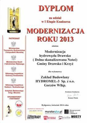 Dyplom Modernizacja Roku 2013
